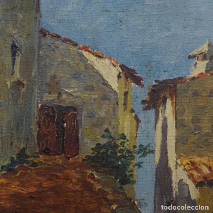 Arte: Óleo sobre tabla anonimo.la pinacoteca.buen trazo.escuela catalana. - Foto 3 - 137254594