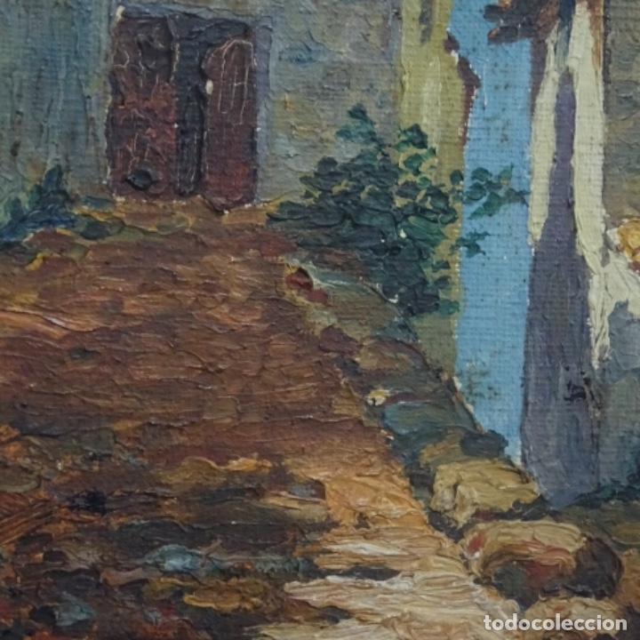 Arte: Óleo sobre tabla anonimo.la pinacoteca.buen trazo.escuela catalana. - Foto 4 - 137254594