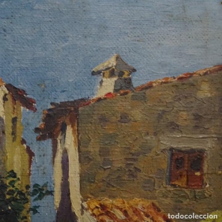 Arte: Óleo sobre tabla anonimo.la pinacoteca.buen trazo.escuela catalana. - Foto 6 - 137254594