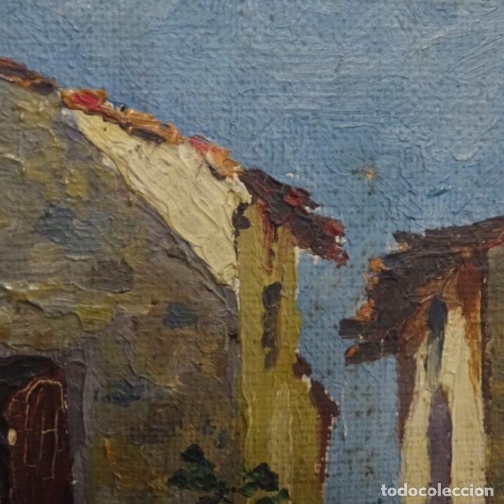 Arte: Óleo sobre tabla anonimo.la pinacoteca.buen trazo.escuela catalana. - Foto 7 - 137254594