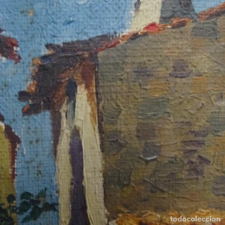Arte: Óleo sobre tabla anonimo.la pinacoteca.buen trazo.escuela catalana. - Foto 8 - 137254594