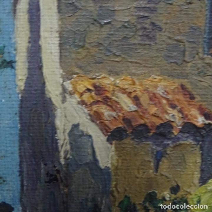 Arte: Óleo sobre tabla anonimo.la pinacoteca.buen trazo.escuela catalana. - Foto 9 - 137254594