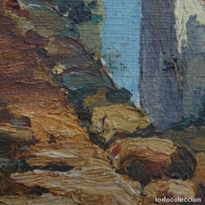 Arte: Óleo sobre tabla anonimo.la pinacoteca.buen trazo.escuela catalana. - Foto 10 - 137254594