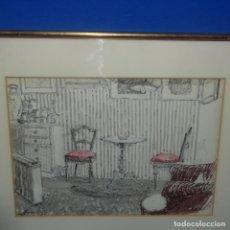 Arte: DIBUJO EN TÉCNICA MIXTA DE JORDI FREIXAS CORTES.. Lote 137354346
