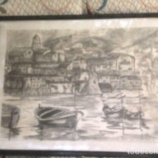 Arte: DIBUJO A CARBONCILLO Y LAPICERO ORIGINAL. Lote 137413105