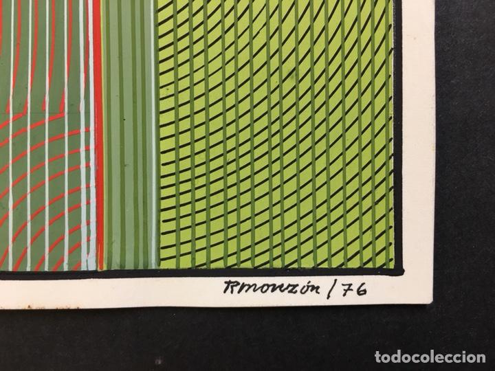 Arte: Felo Monzón 41,5x31,5 cm, 1976 (Cinetismo Abstracto) - Foto 2 - 137465426