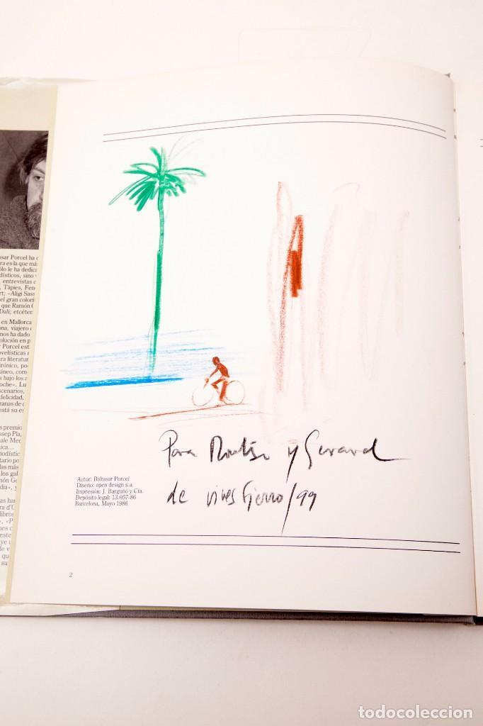 VIVES FIERRO - DIBUJO FIRMADO EN LIBRO (Arte - Dibujos - Contemporáneos siglo XX)