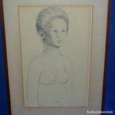 Arte: DIBUJO A LÁPIZ DE SALVADOR ALAVEDRA.1979. Lote 137675134