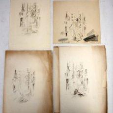 Arte: OLGA SACHAROFF (1889-1967) DIBUJO ORIGINAL PREPARATORIO PARA EL LIBRO DONDE LAS LILAS CRECEN. Lote 137688574