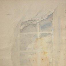 Arte: OLGA SACHAROFF (1889-1967) ACUARELA ORIGINAL PREPARATORIA PARA EL LIBRO DONDE LAS LILAS CRECEN. Lote 137689538