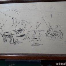 Arte: DIBUJO FIRMADO ROBERTO DOMINGO. Lote 137720578