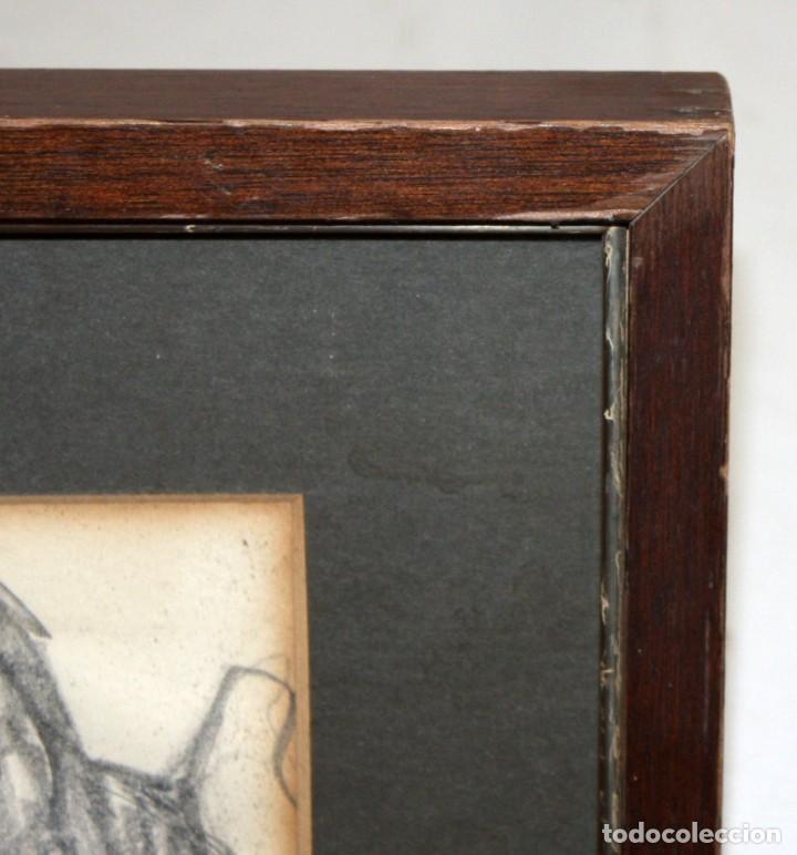 Arte: PERE CLAPERA ARGELAGUER (1906 - 1984) DIBUJO A LAPIZ. RETRATO DE AURORA PONS - Foto 3 - 137816682