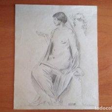 Arte: PEDRO BUENO. DESNUDO FEMENINO.. Lote 137872258