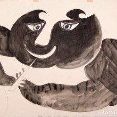 Arte: JOAN COMELLAS - TINTA SOBRE PAPEL - 1961. Lote 138164818