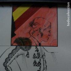 Arte: DIBUJO TORERO ESPAÑOL, TÉCNICA MIXTA SOBRE PAPEL. EL TOREJADOR. KIM DOMENE 1975. Lote 138253226