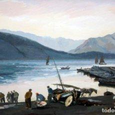 Arte: ALEXANDRE COLL BLANCH (BARCELONA 1898-1975) ESCENA PESQUERA. Lote 138562514