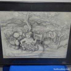 Arte: BUEN DIBUJO DE RAMON BOTER.. Lote 138925534