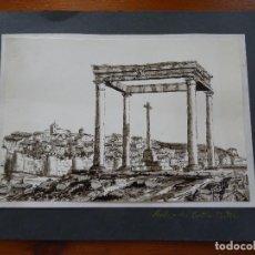 Arte: VISTA DE ÁVILA DESDE LOS CUATRO POSTES, TINTA, 26 X 18 CM EL DIBUJO, FIRMADO C. DIAZ 78?. Lote 138939086