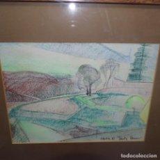 Arte: BONITO DIBUJO ILEGIBLE DE GRAN CALIDAD.AÑO 1987.. Lote 138982386