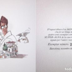 Arte: DIBUJO MINGOTE PARA API BARCELONA TIRADA NUMERADA FIRMADA 229 DE 400 NOVIEMBRE 1990. Lote 139047298
