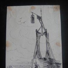 Arte: DIBUJO ORIGINAL A PLUMILLA , EL JUDIO JUSO - AÑO 1891 APROX. Lote 139127402