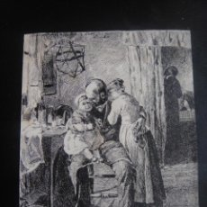 Arte: DIBUJO ORIGINAL A PLUMILLA SOBRE UN CUADRO DE ENRIQUE COLL , FIRMADO A. RUIZ - AÑO 1891 APROX. Lote 139180610