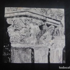 Arte: DIBUJO ORIGINAL A PLUMILLA , CAPITELES DEL MONASTERIO DE RIPOLL - AÑO 1891 APROX. Lote 139182402
