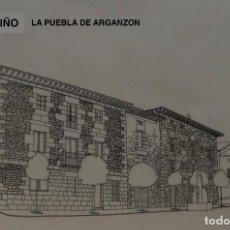 Arte: DIBUJOS ORIGINALES-CONDADO DE TREVIÑO(MUNICIPIO DE BURGOS)-LA PUEBLA DE ARGANZON(35€). Lote 139211774