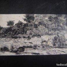Arte: DIBUJO ORIGINAL A PLUMILLA , - AÑO 1890 . Lote 139252014