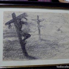 Arte: DIBUJO A TINTA FIRMADO PACO HERNANDEZ. Lote 139451770