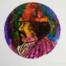 Arte: MARCELO MAYORGA (BUENOS AIRES,1941) ACRÍCLICO SOBRE PAPEL RETRATO HOMBRE 1978 FIRMADO. Lote 139461474