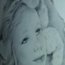 Arte: REPRODUCCIÓN DIBUJO ENMARCADO DE LA AFAMADA PINTORA MARIETTE LYDIS. Lote 147425918