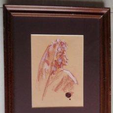 Arte: ALBERT PUJOLAR SOLER. D'ALBERT. BARCELONA 1.938. DIBUJO ENMARCADO 40 X 33. Lote 139621962