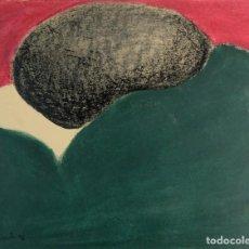 Arte: DIBUJO CERAS COMPOSICION FIRMADO CASACUBERRA 1976. Lote 139655418