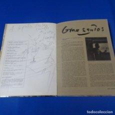 Arte: DIBUJO DE GRAU SANTOS EN LIBRO MAESTROS ACTUALES.CON DEDICATORIA.1974.. Lote 139766934