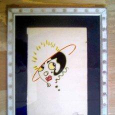 Arte: DIBUJO CARICATURA DE MUJER ESTILO DECÓ. Lote 140185238
