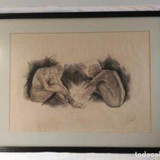 Arte: ORIGINAL FIRMADO -EXCELENTE DIBUJO AL CARBONCILLO, FIRMADO BENZAL - BUEN ENMARCADO.. Lote 140274506