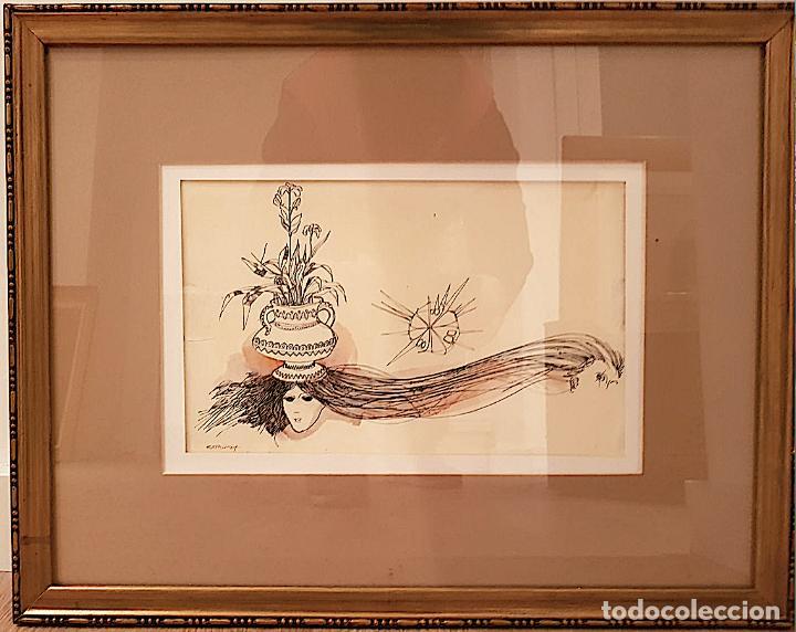 DIBUJO ORIGINAL FIRMADO ESTRUGA (Arte - Dibujos - Contemporáneos siglo XX)