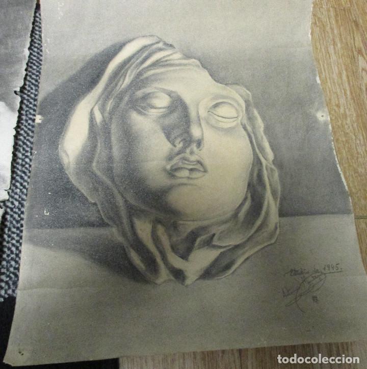 Arte: lote 4 dibujos originales años 40 - Foto 3 - 140297238