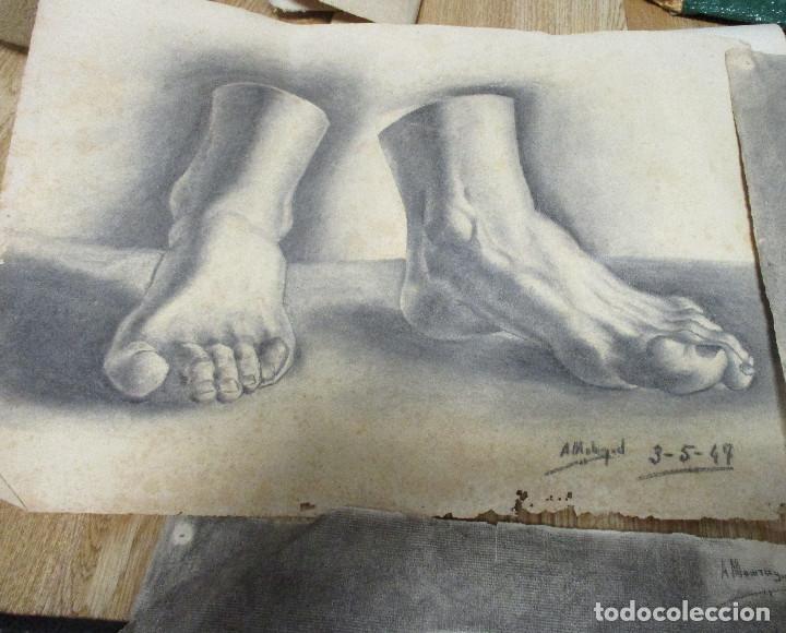Arte: lote 4 dibujos originales años 40 - Foto 4 - 140297238