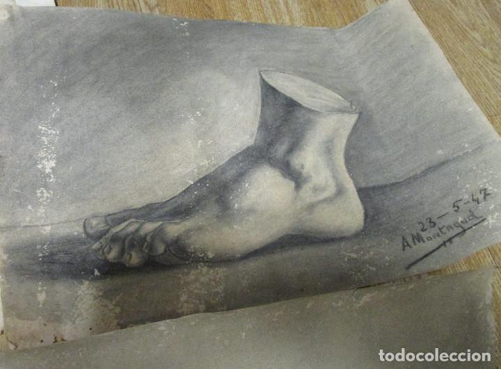 Arte: lote 4 dibujos originales años 40 - Foto 5 - 140297238
