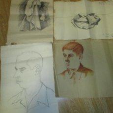 Arte: LOTE 5 DIBUJOS ORIGINALES ANTONIO MONTAGUD AÑOS 40. Lote 140298482
