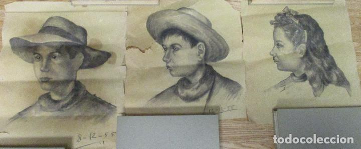 LOTE 3 DIBUJOS ORIGINALES ANTONIO MONTAGUD AÑOS 50 (Arte - Dibujos - Contemporáneos siglo XX)