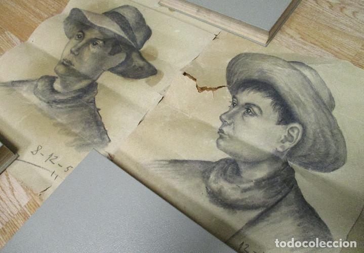 Arte: lote 3 dibujos originales ANTONIO MONTAGUD años 50 - Foto 3 - 140299326