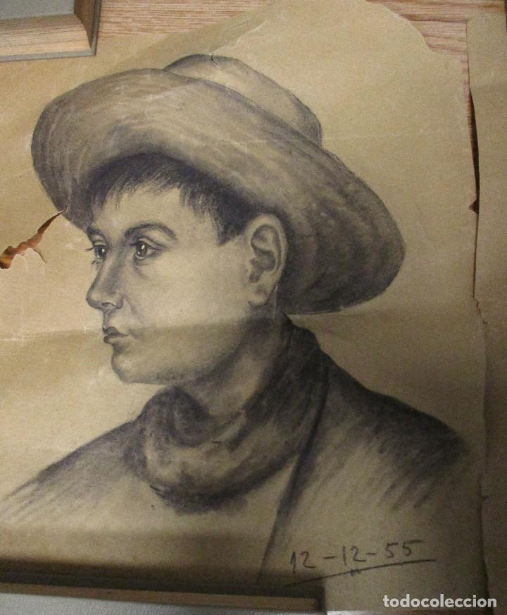 Arte: lote 3 dibujos originales ANTONIO MONTAGUD años 50 - Foto 6 - 140299326