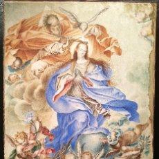 Arte: LA INMACULADA. VITELA ATRIBUIDA A MIGUEL JACINTO MELENDEZ (1679-1734). Lote 140314698