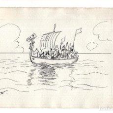 Arte: DIBUJO ORIGINAL DE JOAQUÍN XAUDARÓ. DIBUJANTE, ILUSTRADOR Y CARICATURISTA.. Lote 140359094