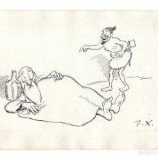 Arte: DIBUJO ORIGINAL DE JOAQUÍN XAUDARÓ. DIBUJANTE, ILUSTRADOR Y CARICATURISTA.. Lote 140359254