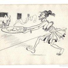Arte: DIBUJO ORIGINAL DE JOAQUÍN XAUDARÓ. DIBUJANTE, ILUSTRADOR Y CARICATURISTA.. Lote 140359602
