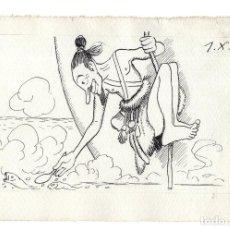 Arte: DIBUJO ORIGINAL DE JOAQUÍN XAUDARÓ. DIBUJANTE, ILUSTRADOR Y CARICATURISTA.. Lote 140360170